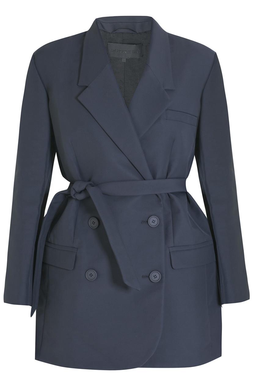 Пальто из хлопка и полиамида American Retro 3069084 серый фото