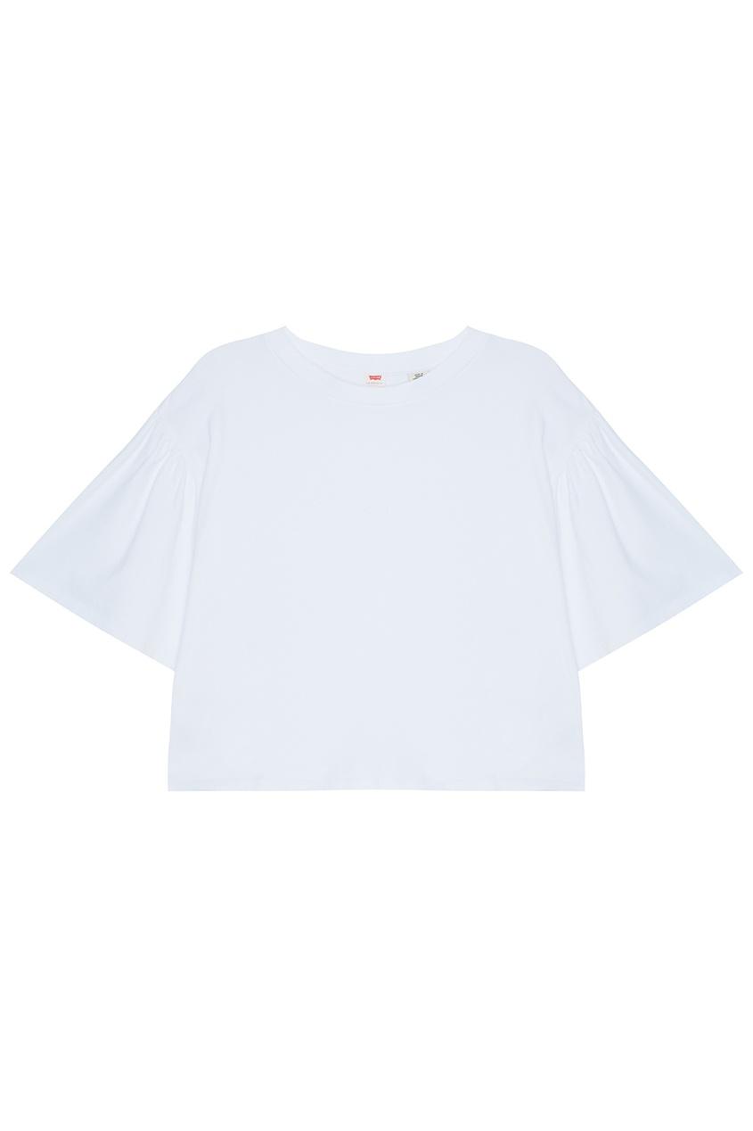 Укороченная футболка с объемными рукавами