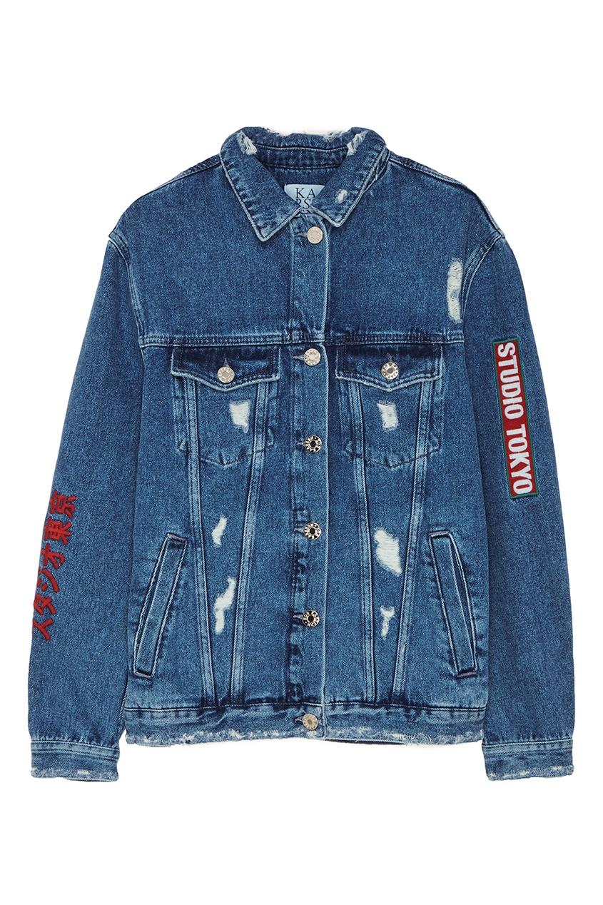 Купить со скидкой Джинсовая куртка с вышивкой