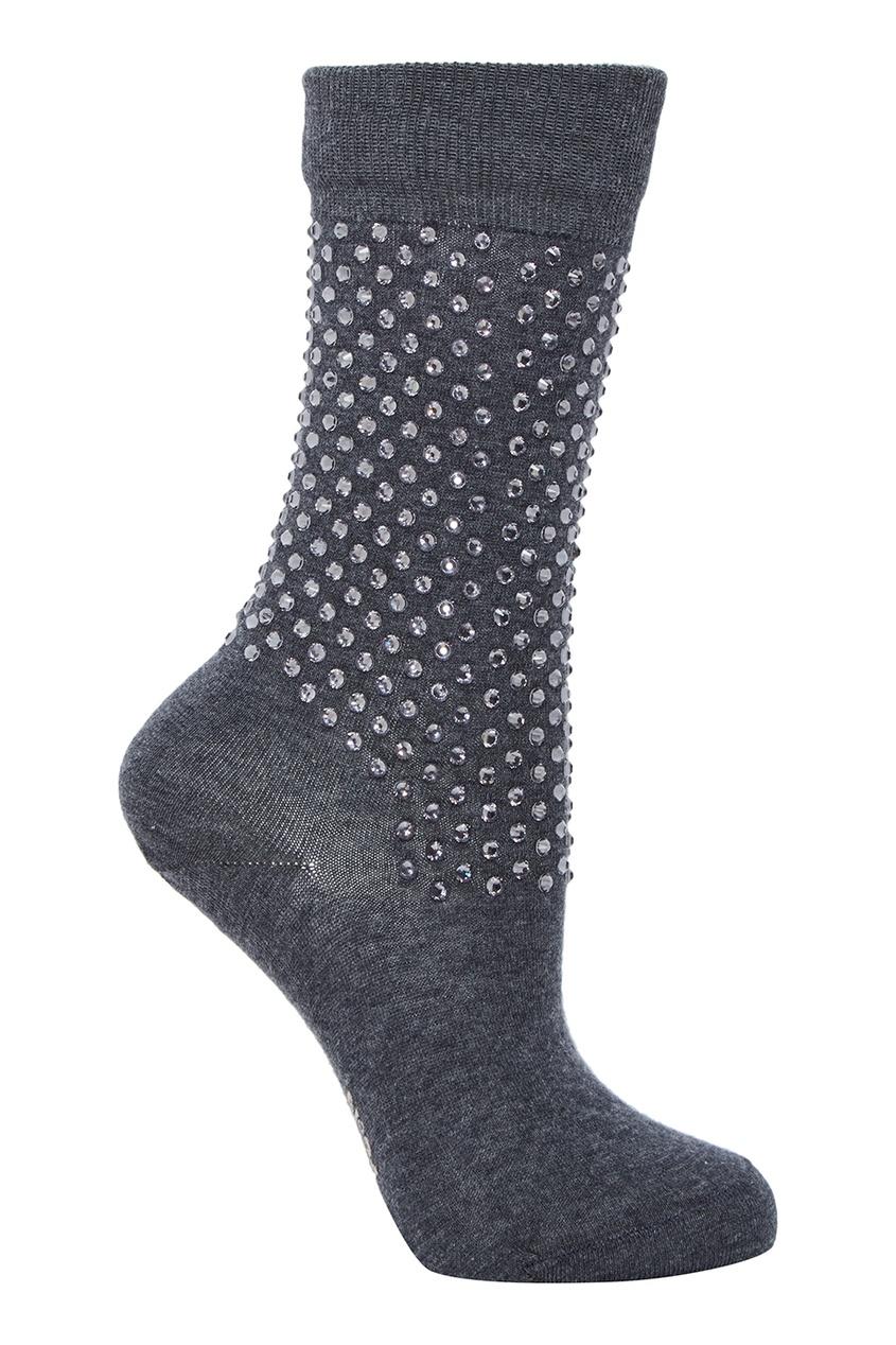 Серые носки с блестящей отделкой