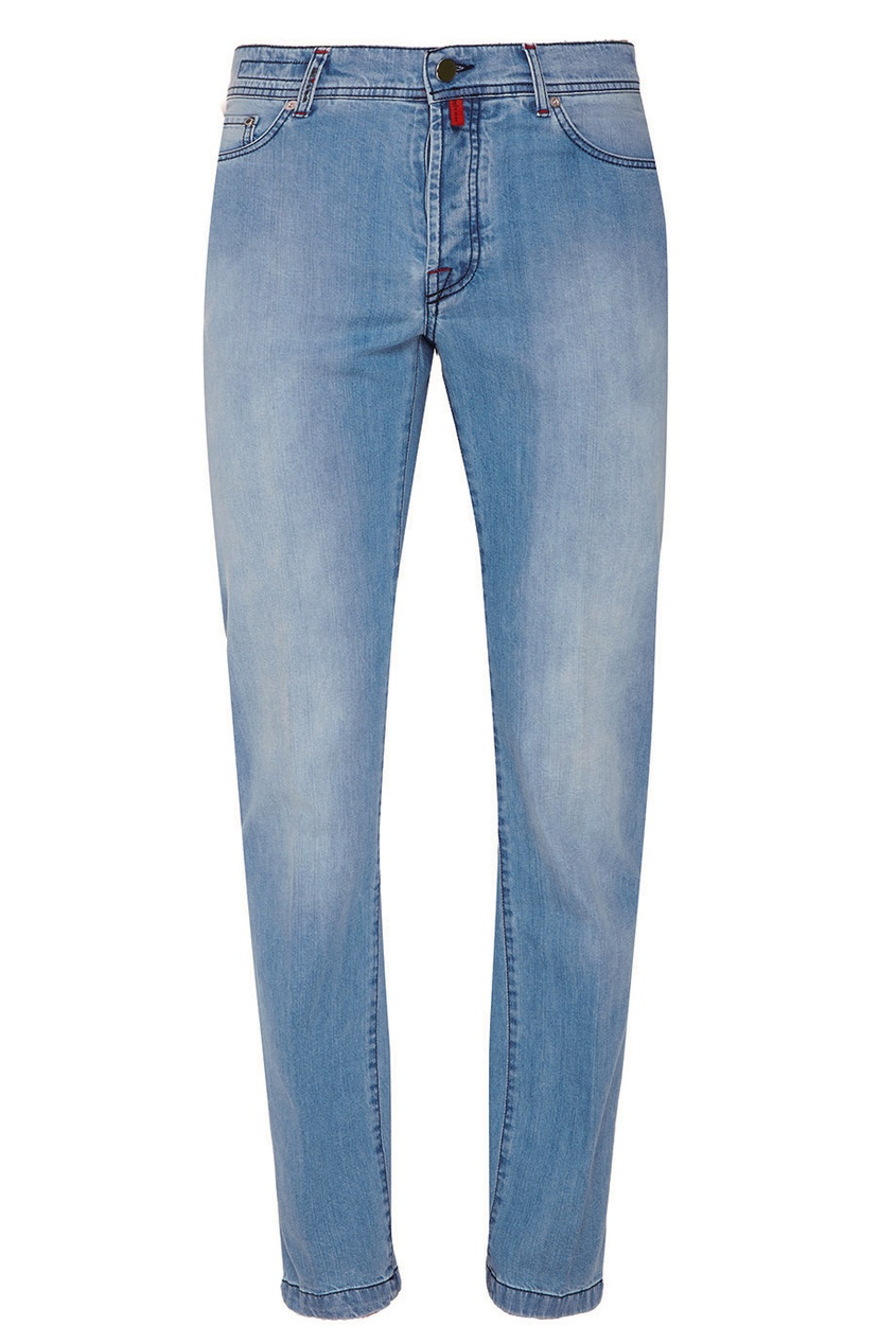 KITON Выбеленные голубые джинсы