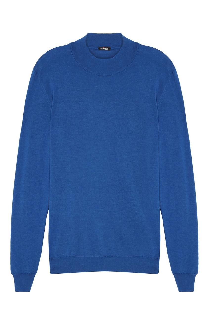 Купить Синий пуловер от KITON синего цвета