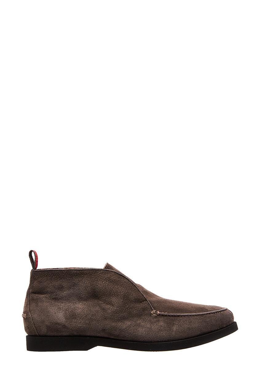 мужские ботинки kiton, серые