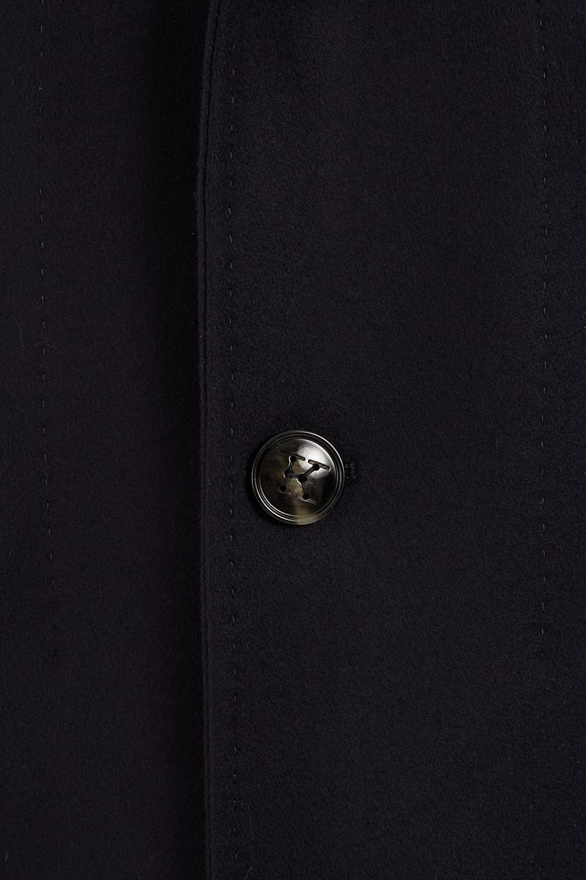 Кашемировое пальто с двойным воротником фото