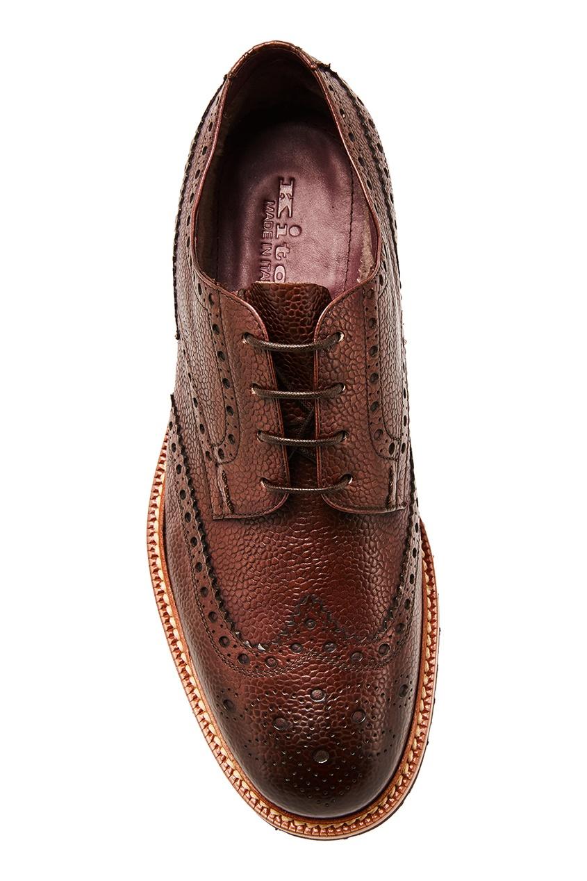 мужские туфли kiton, коричневые