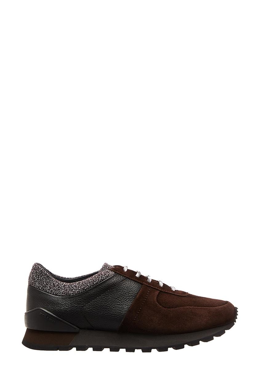 мужские ботинки kiton, коричневые