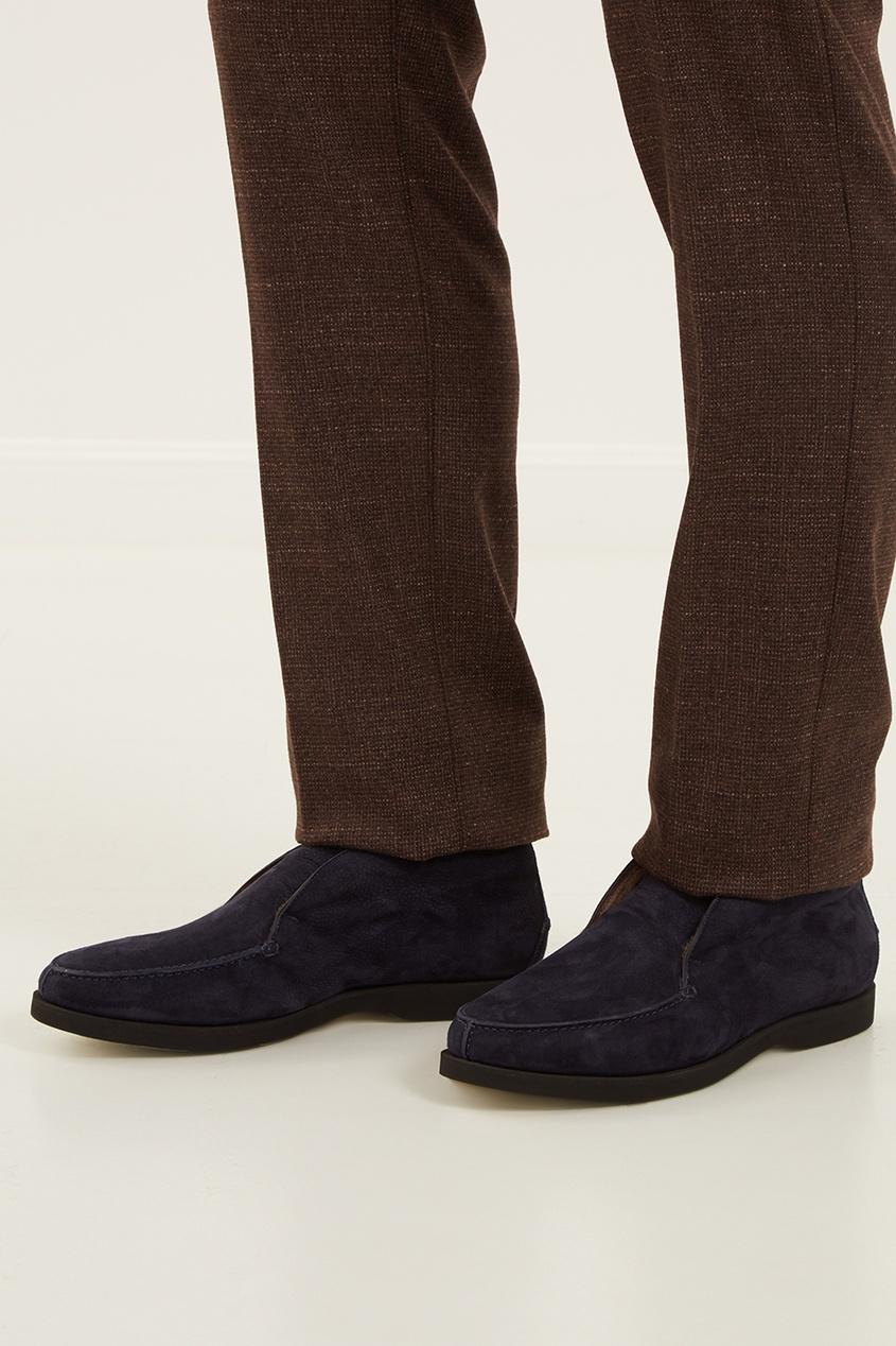 мужские ботинки kiton, синие