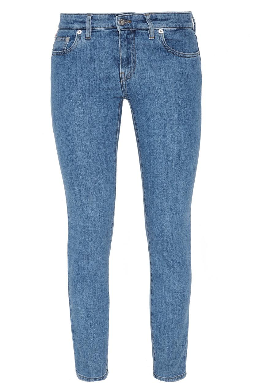 Miu Miu Зауженные синие джинсы