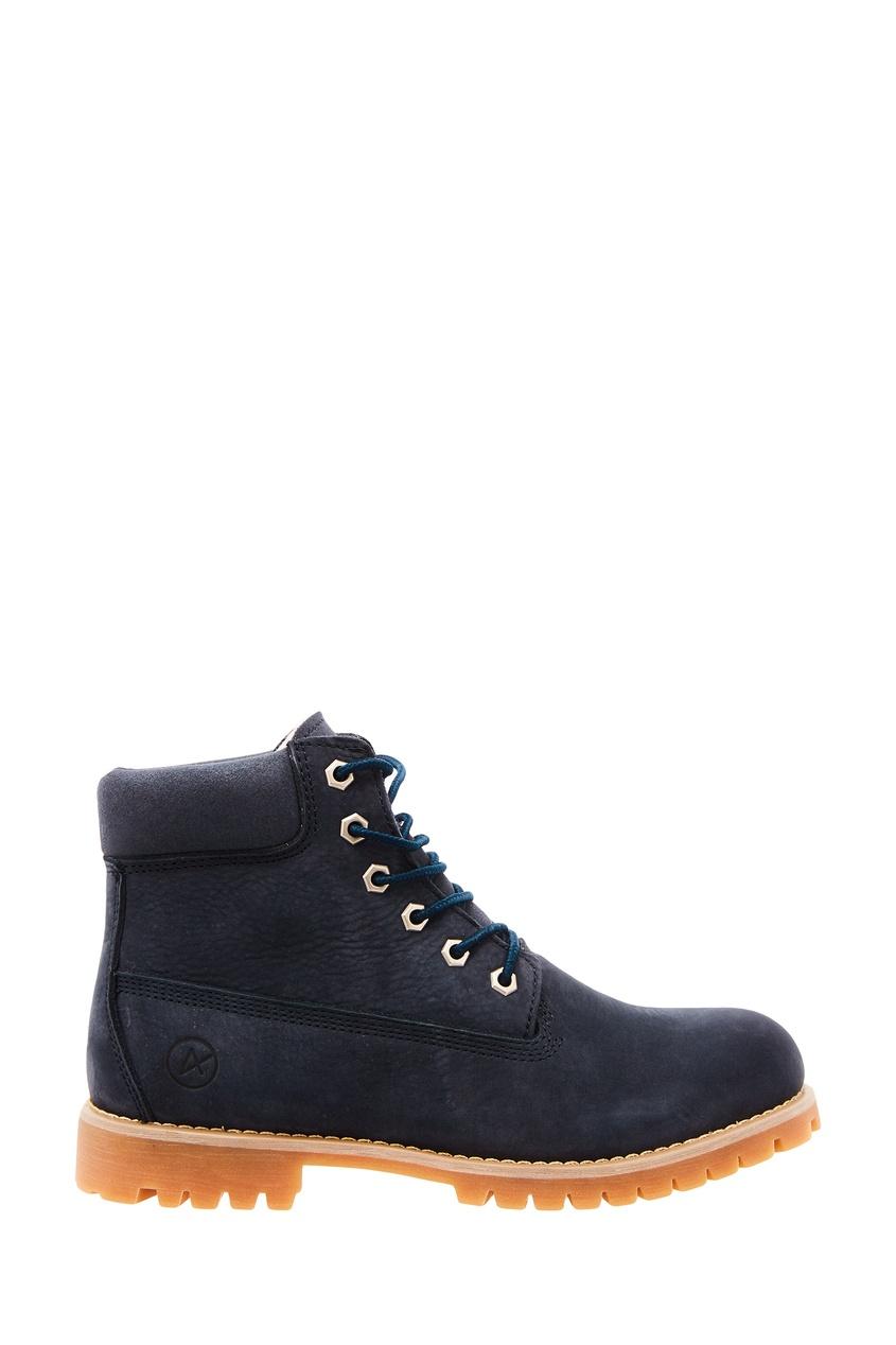 Купить со скидкой Синие ботинки на шнуровке New_York