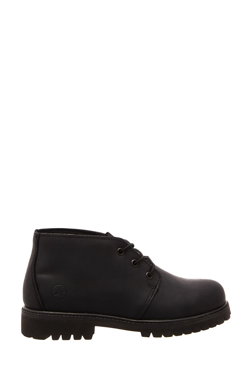 Купить со скидкой Черные кожаные ботинки Tibet