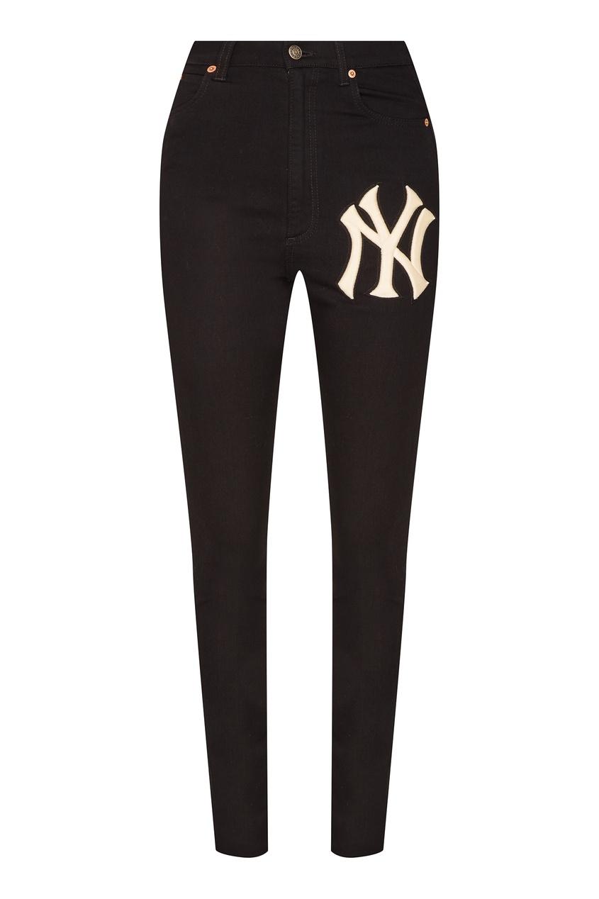 женские джинсы gucci, черные