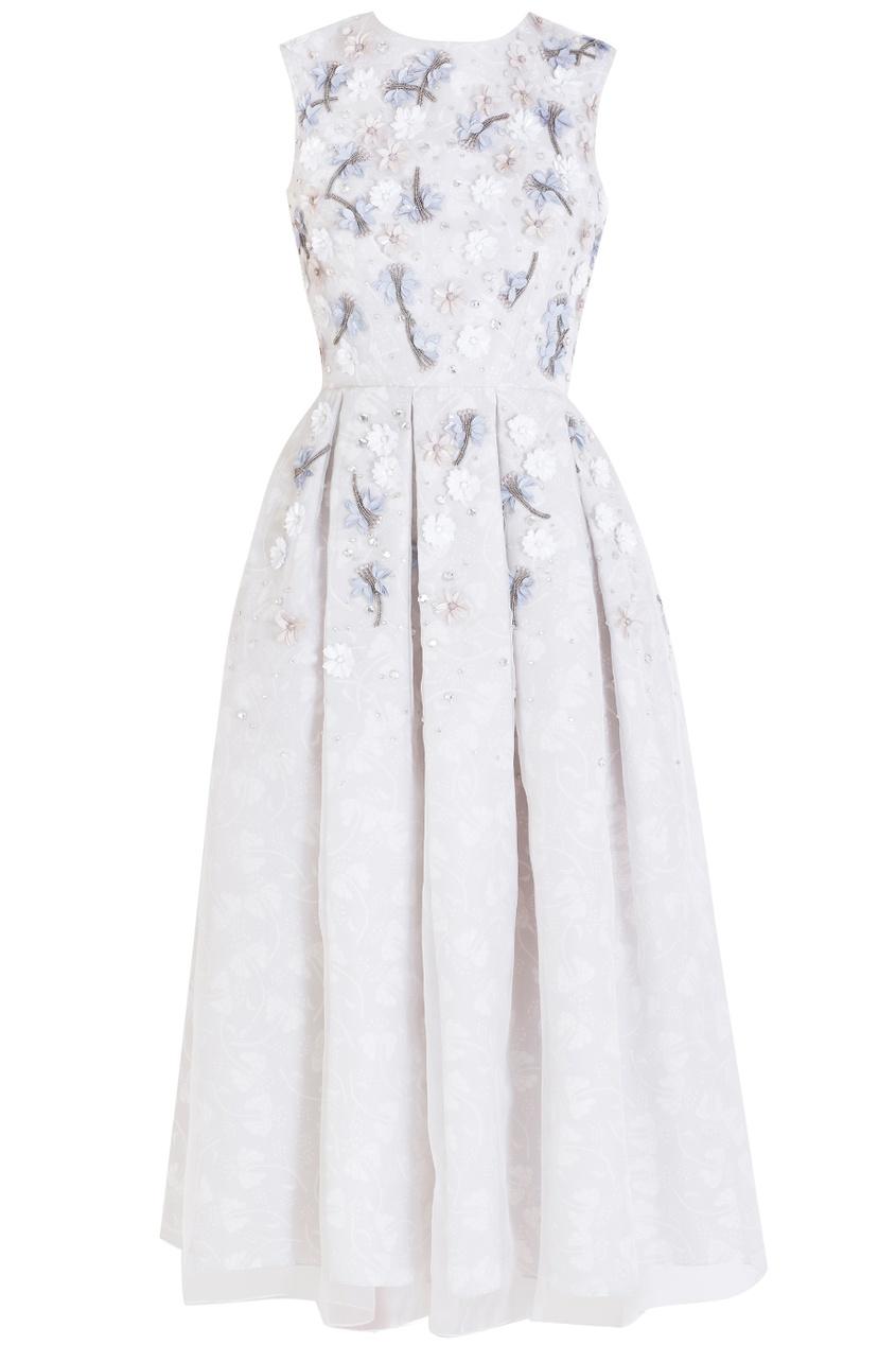 Holly Fulton Шелковое платье
