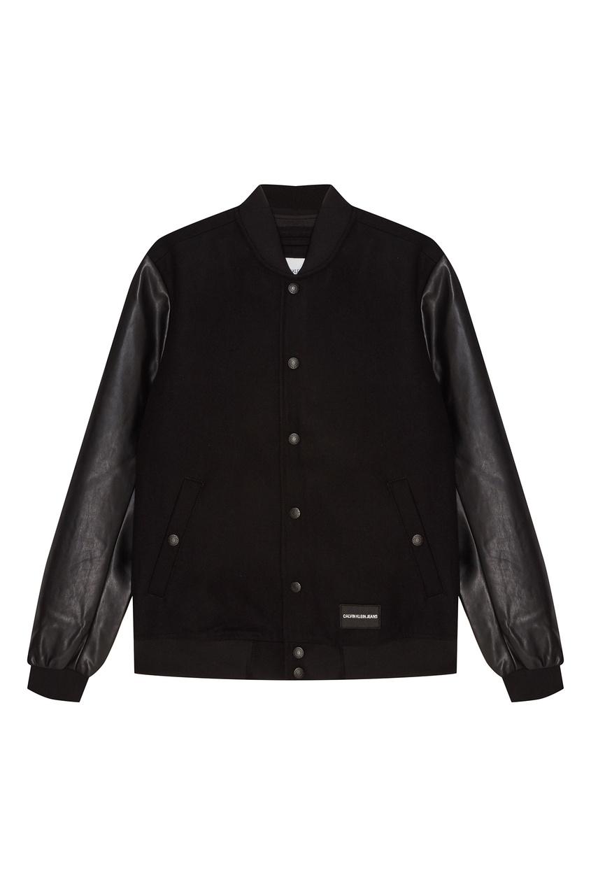 Куртка с фактурными рукавами Calvin Klein