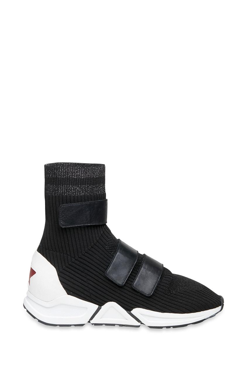 Купить со скидкой Высокие текстильные кроссовки Triton