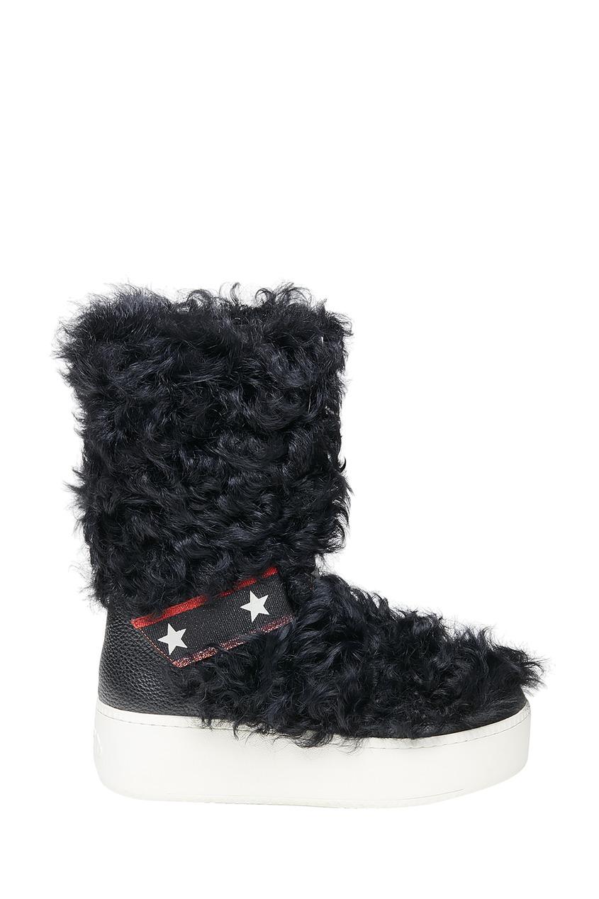 Черные сапоги Cool с мехом ASH