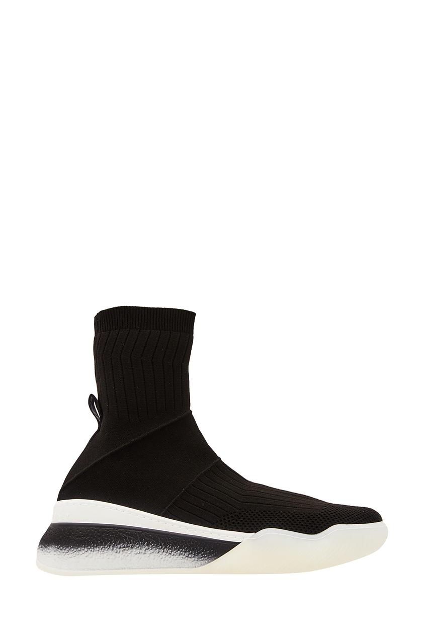 Черные текстильные кроссовки Stella McCartney