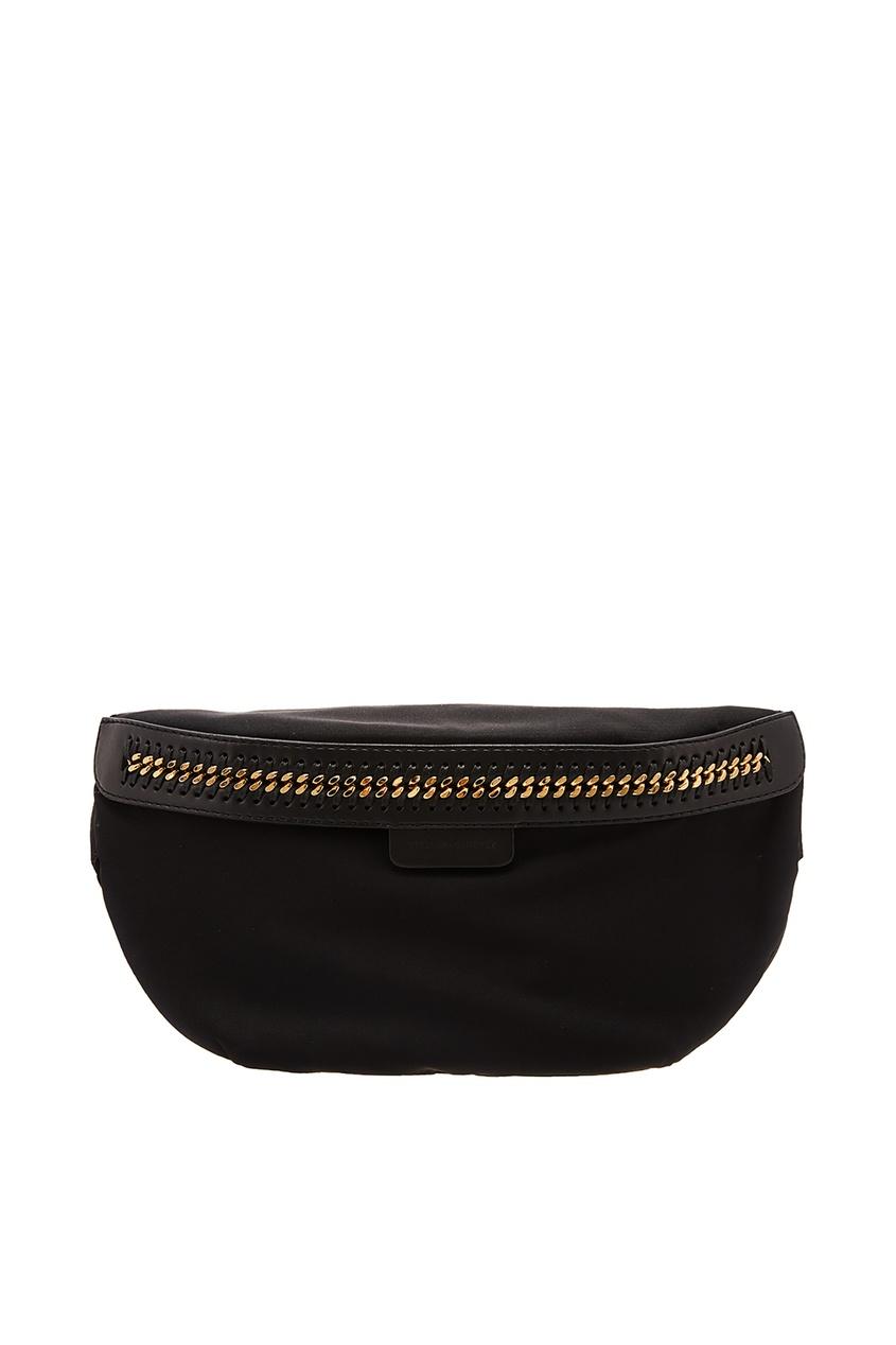 Купить со скидкой Черная сумка на пояс