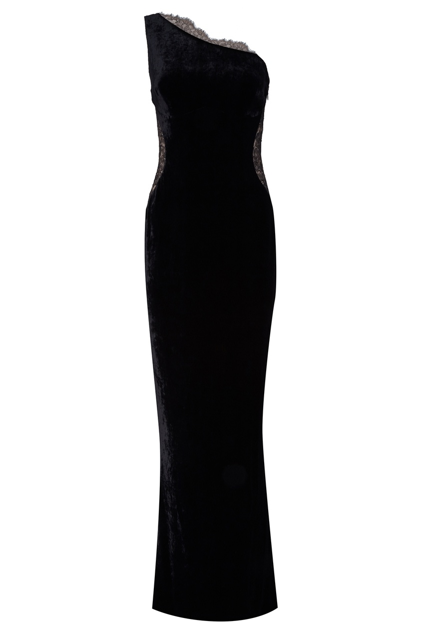 Платье с асимметричным верхом Stella McCartney