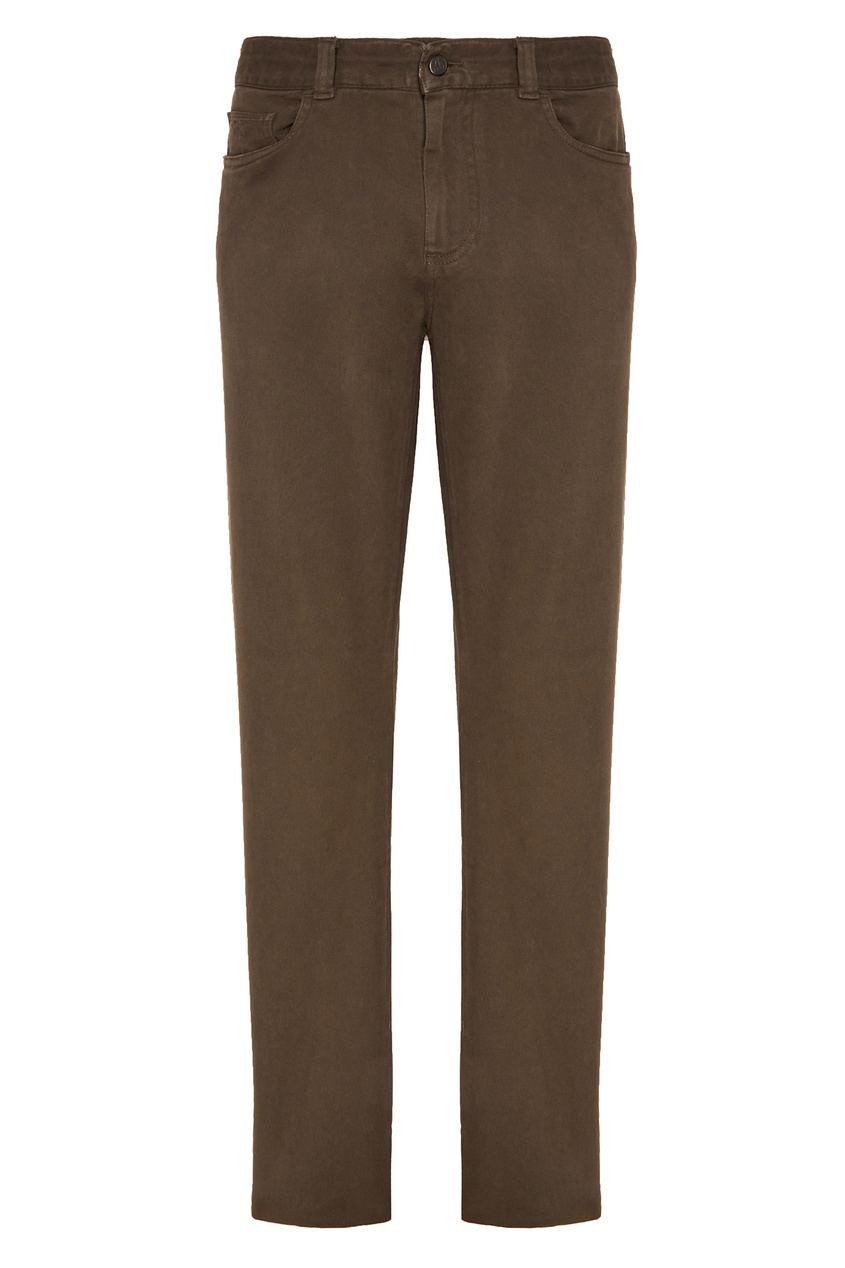 Купить Бежевые брюки от Canali коричневого цвета