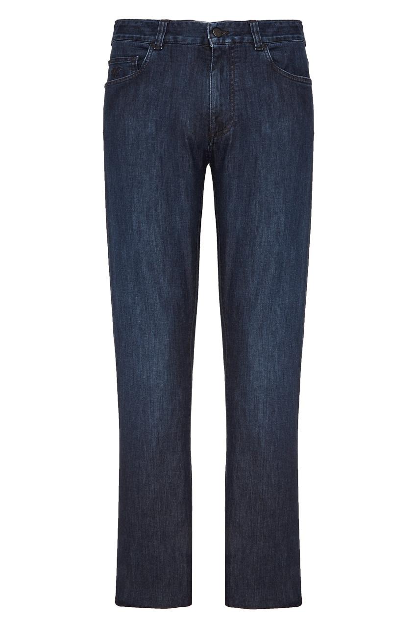 Купить Синие джинсы из хлопка от Canali синего цвета