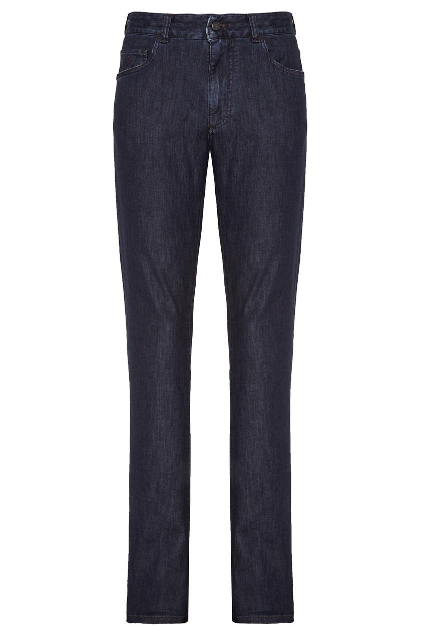 Купить Синие хлопковые джинсы от Canali синего цвета
