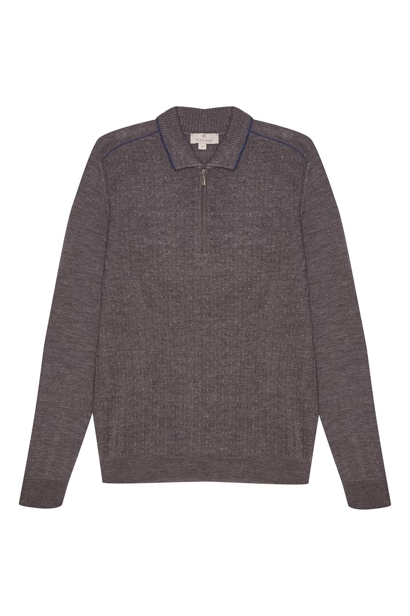 мужской свитер canali, серый