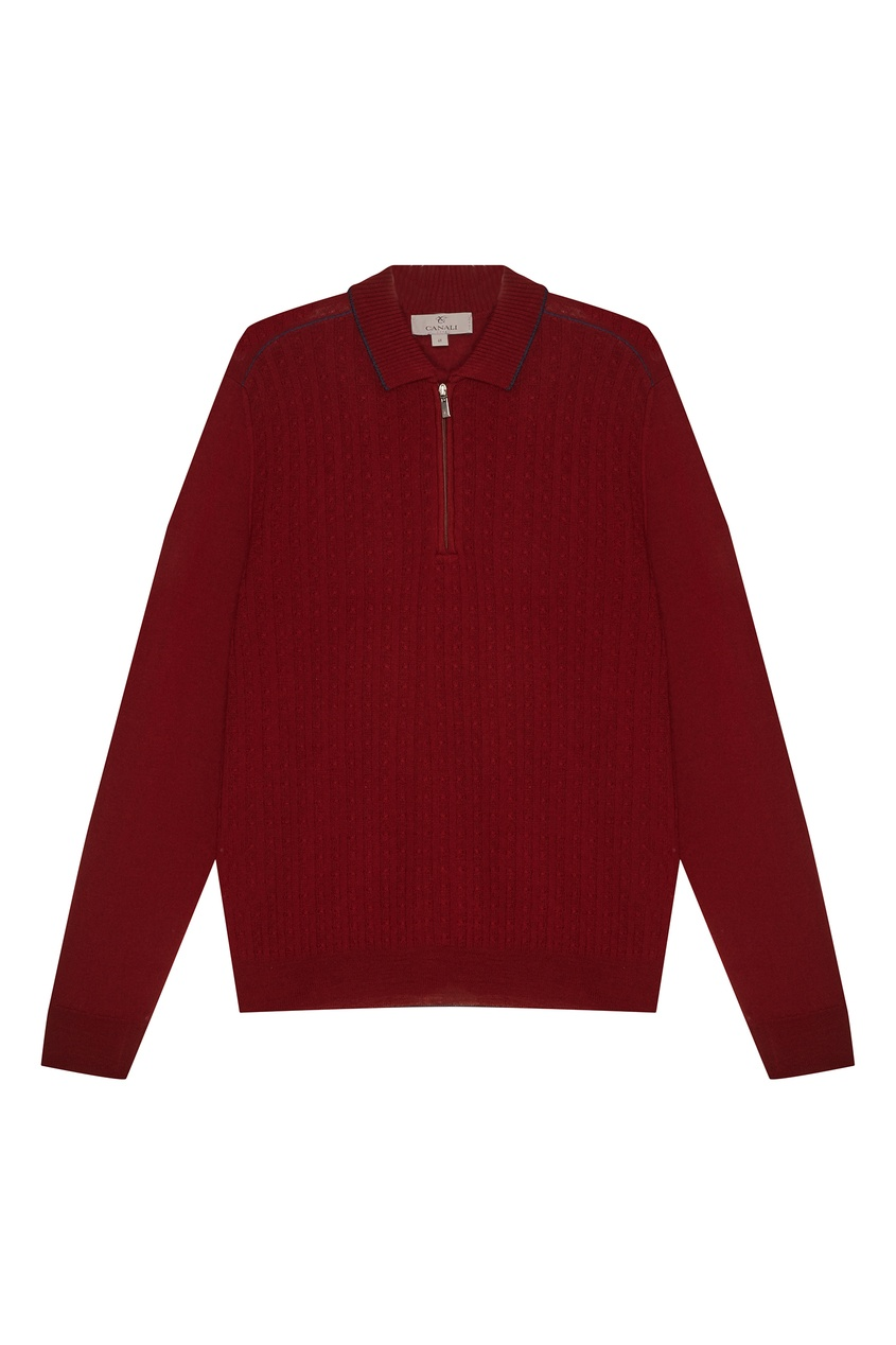 Купить Красный шерстяной свитер от Canali красного цвета