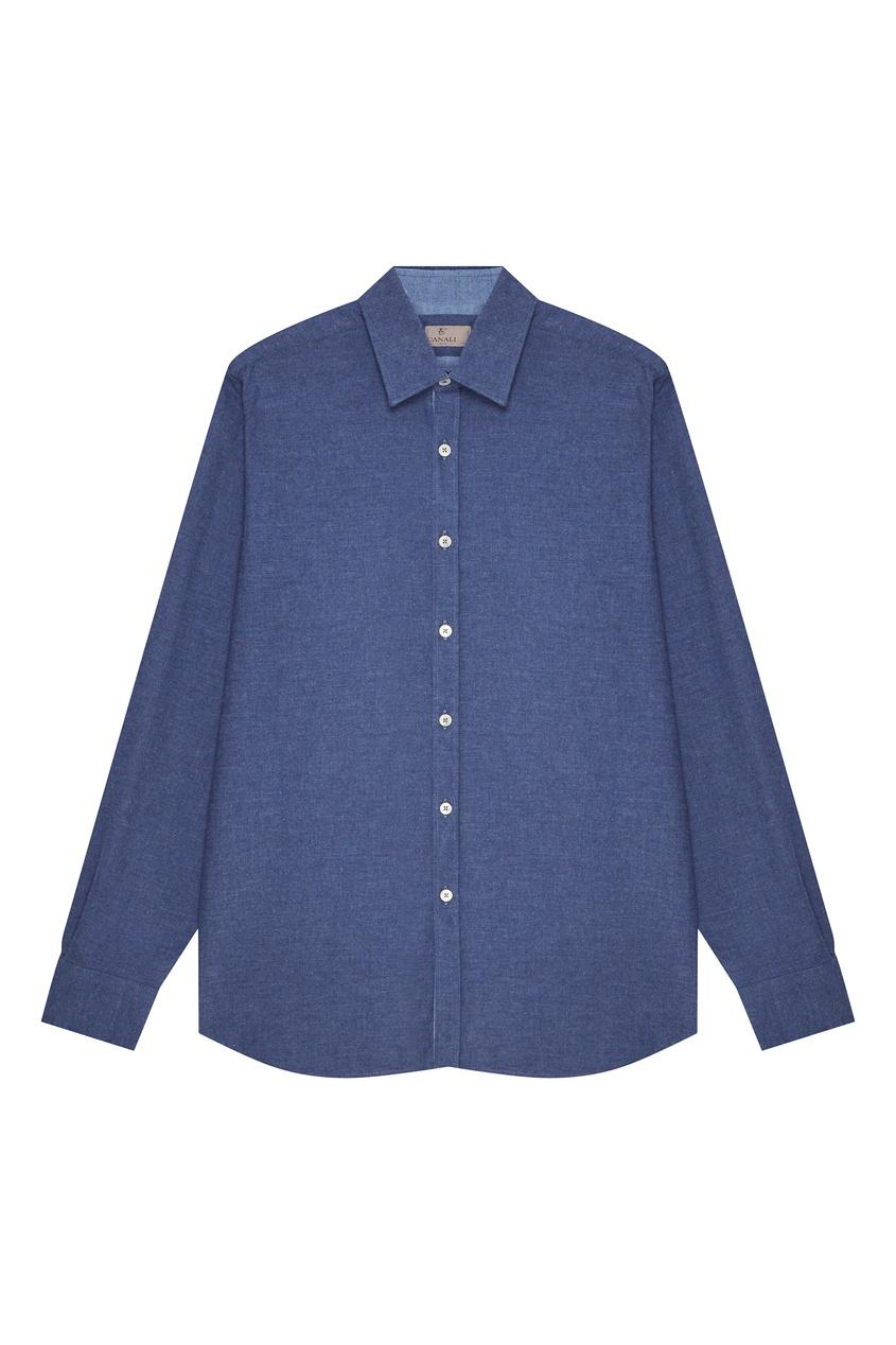 мужская рубашка canali, синяя