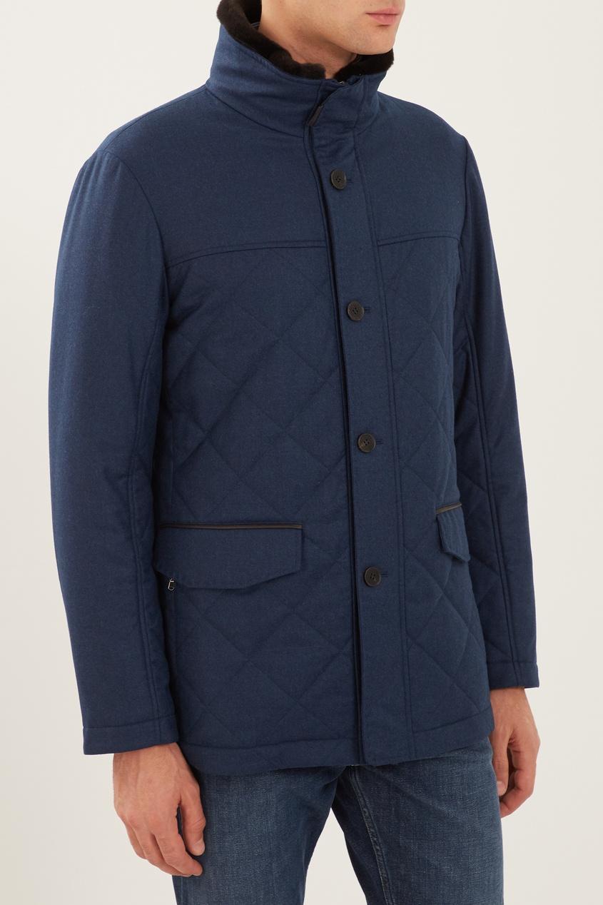 мужская куртка canali, синяя