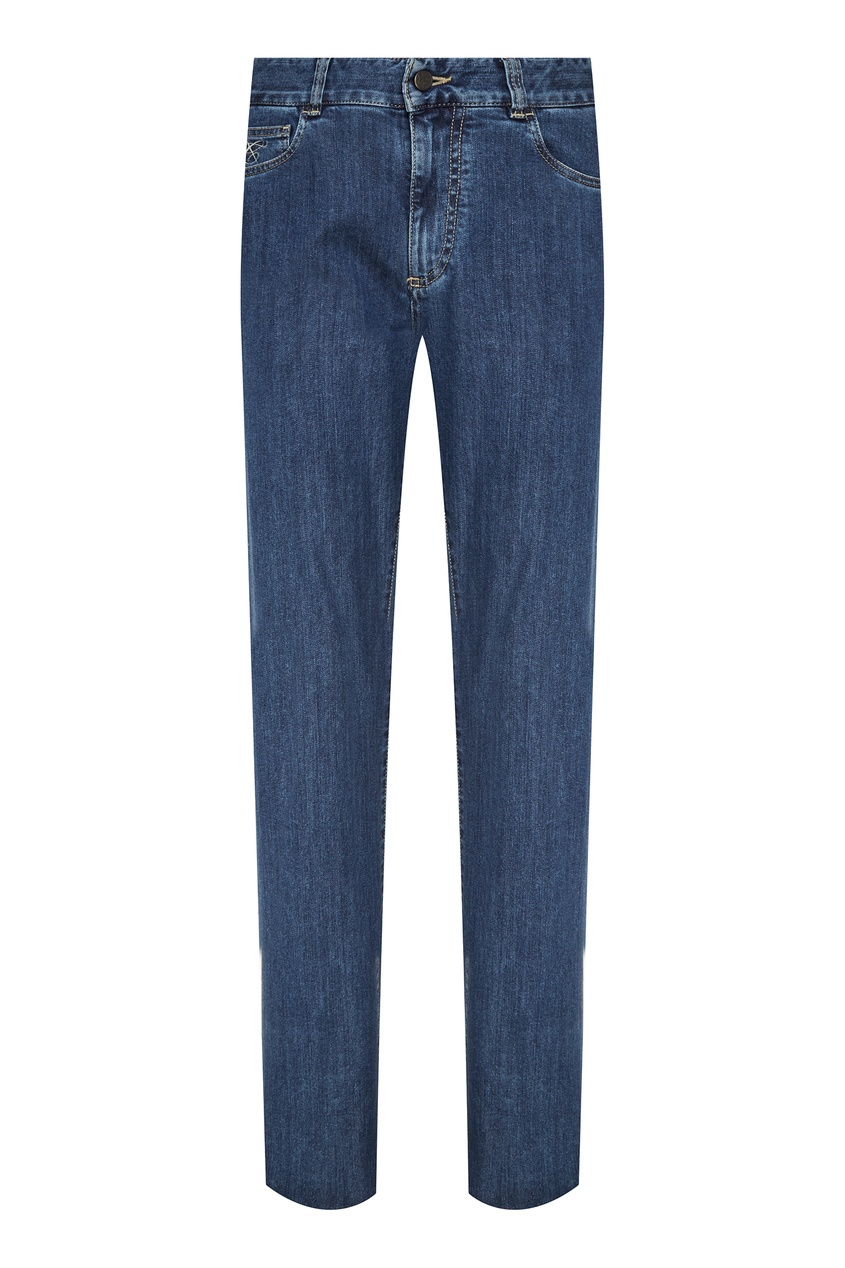 Купить Голубые джинсы от Canali синего цвета