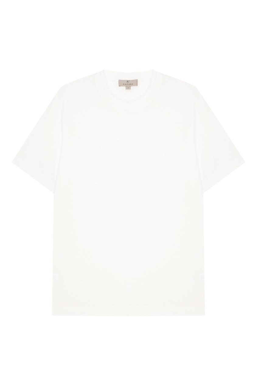 Купить Белая хлопковая футболка от Canali белого цвета