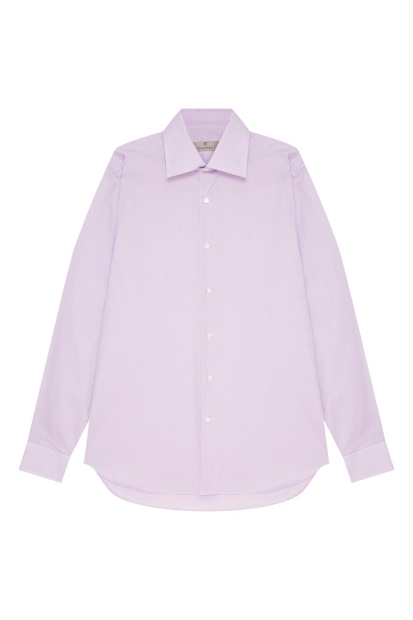 мужская рубашка canali, фиолетовая