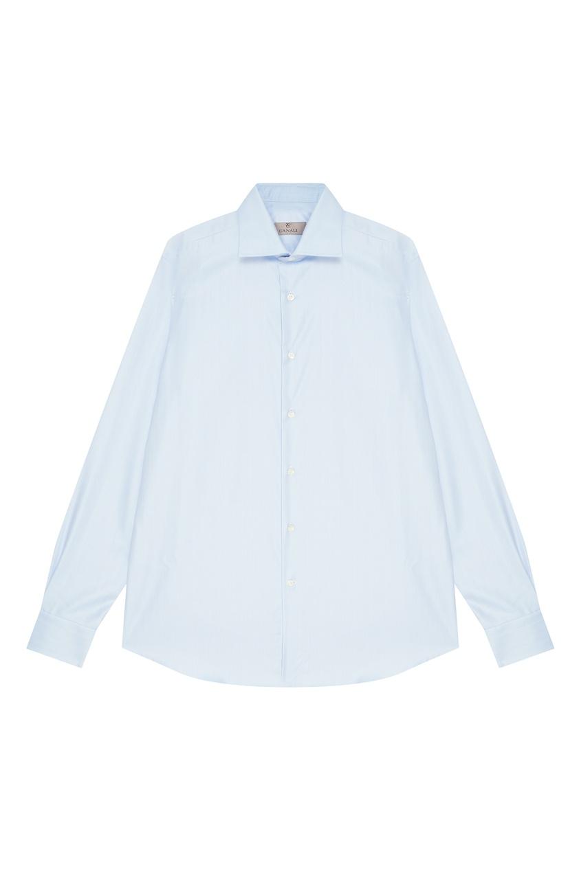 мужская рубашка canali, голубая
