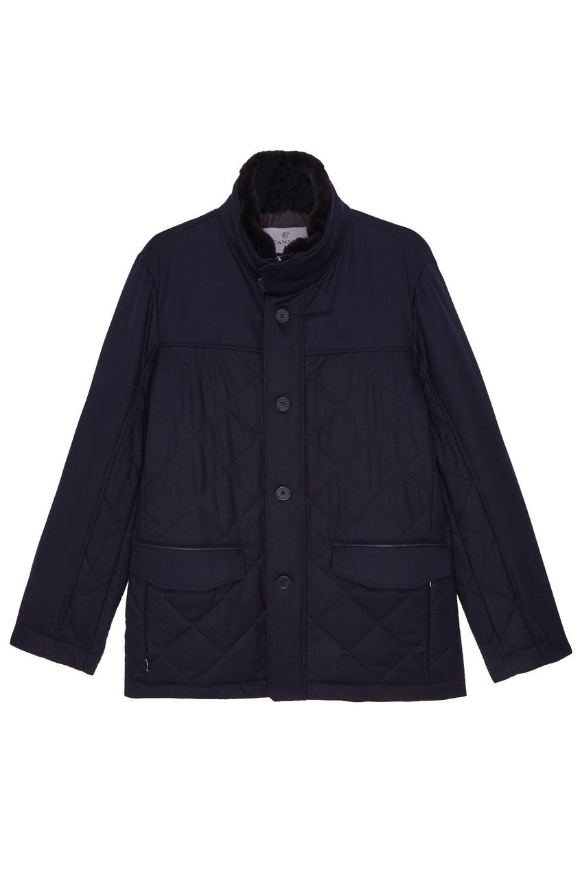 Купить Темно-синяя куртка от Canali синего цвета