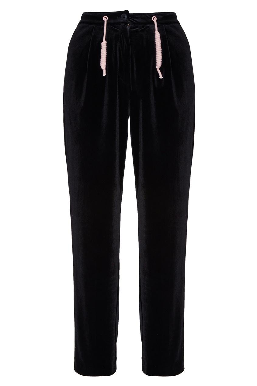 Купить со скидкой Черные бархатные брюки Budapest
