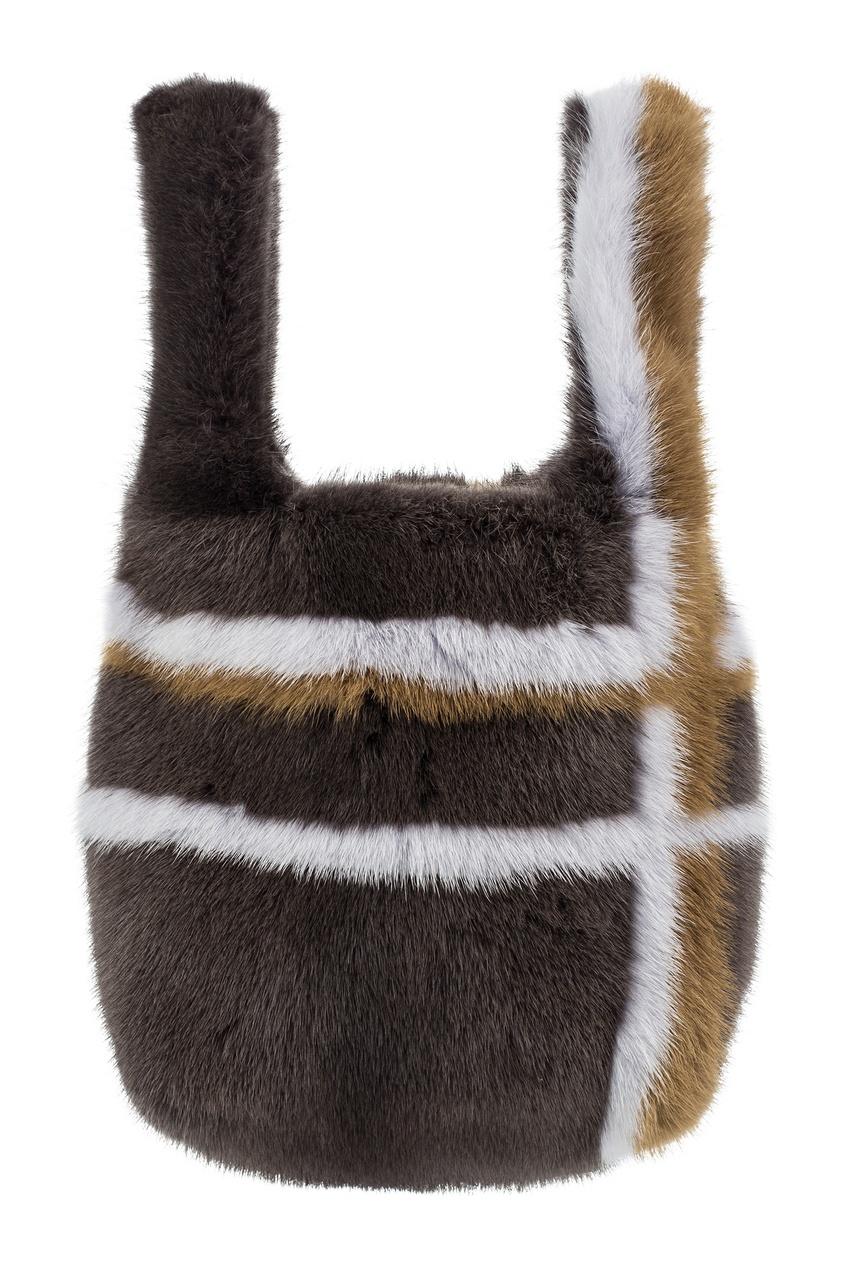 Меховая сумка с отделкой Color°Temperature