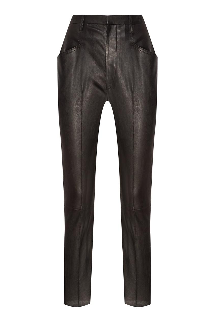 Купить со скидкой Черные кожаные брюки Modena