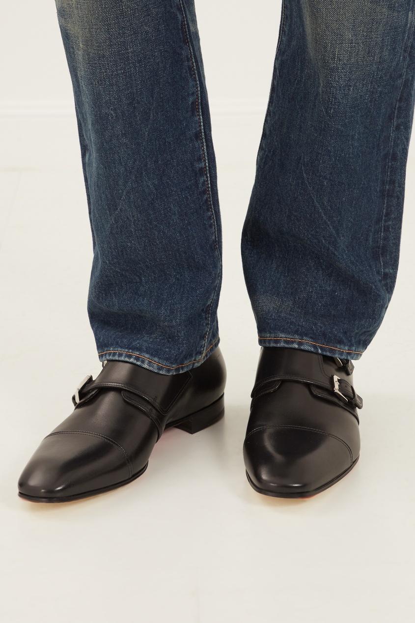 мужские туфли christian louboutin, черные