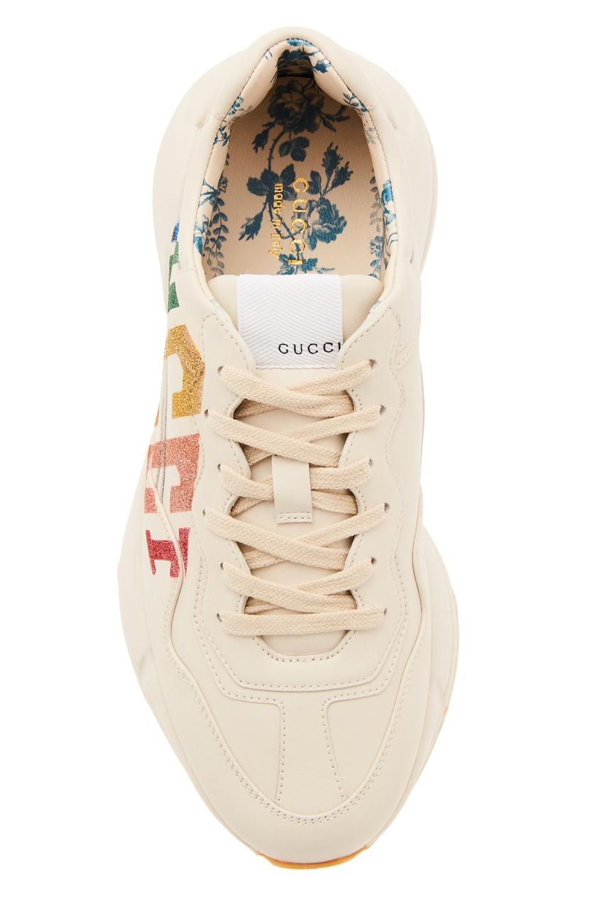 женские кроссовки gucci, белые