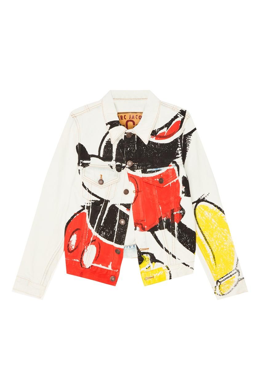 женская куртка marc jacobs, белая
