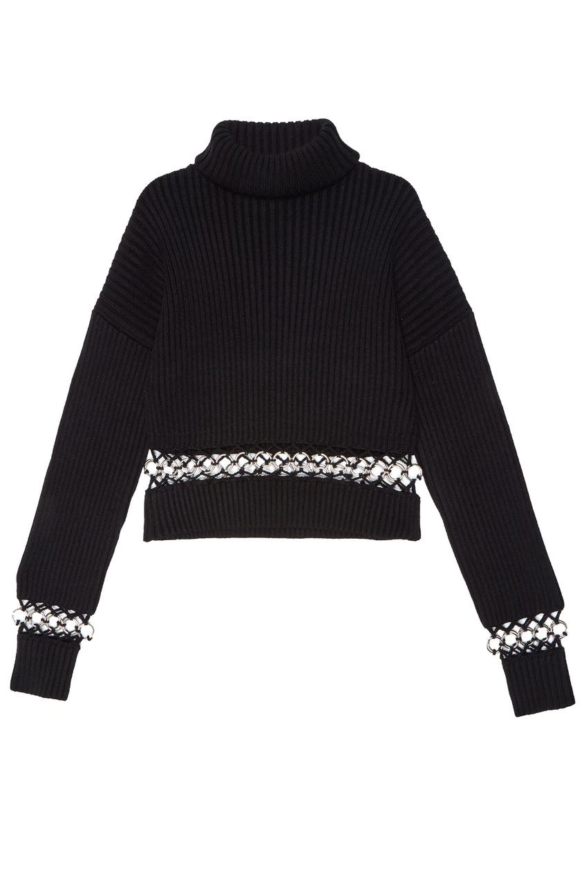 женский свитер david koma, черный