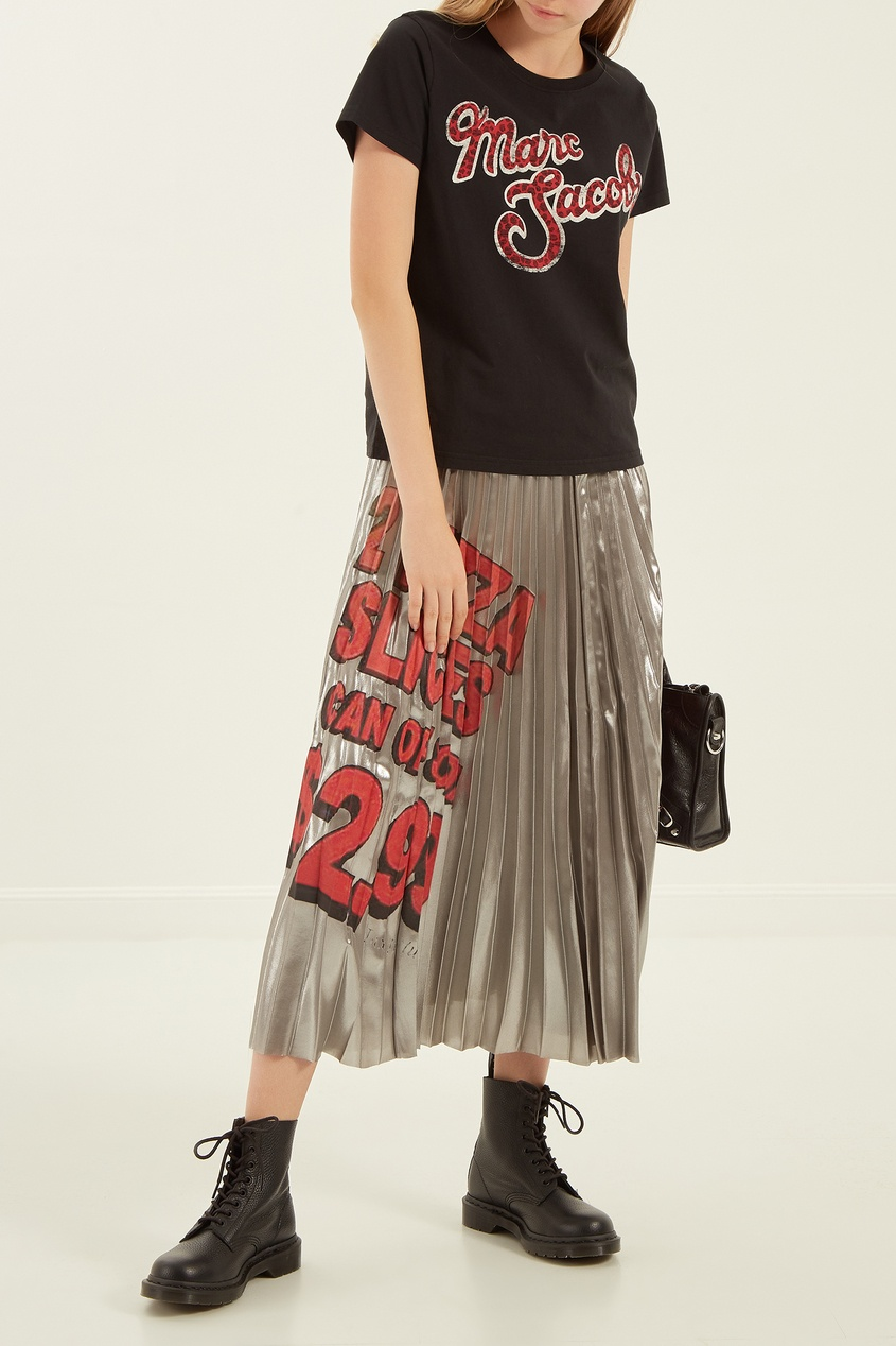 женская футболка marc jacobs, черная
