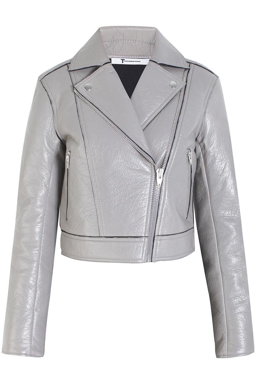 Кожаная куртка alexanderwang.t. Цвет: серый