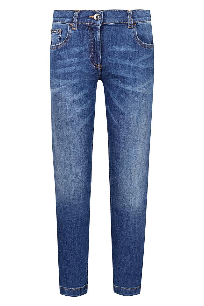 Купить Голубые джинсы синего цвета