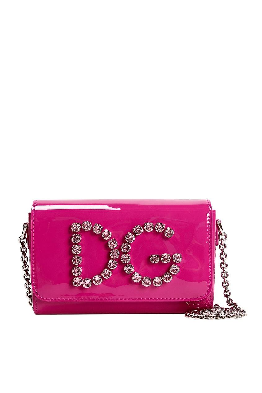 Лакированная розовая сумка Dolce&Gabbana Kids