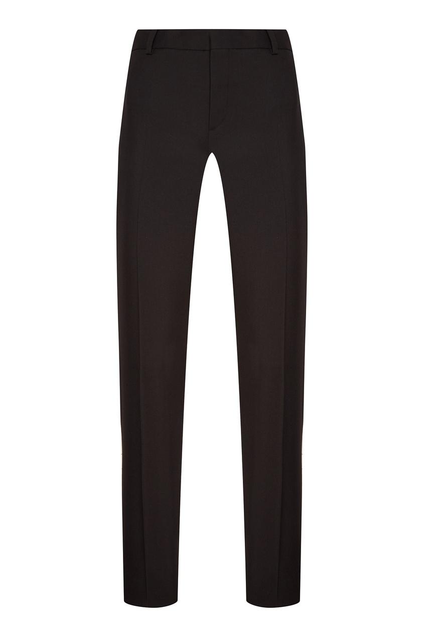 Купить Классические черные брюки от Saint Laurent черного цвета