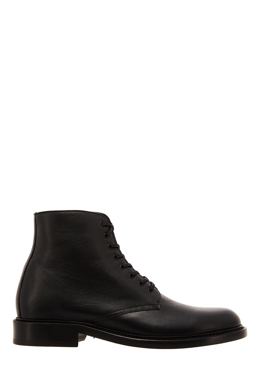 женские ботинки saint laurent, черные