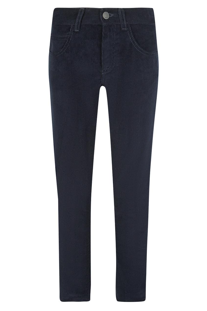 Купить Вельветовые брюки с нашивкой от Fendi Kids синего цвета