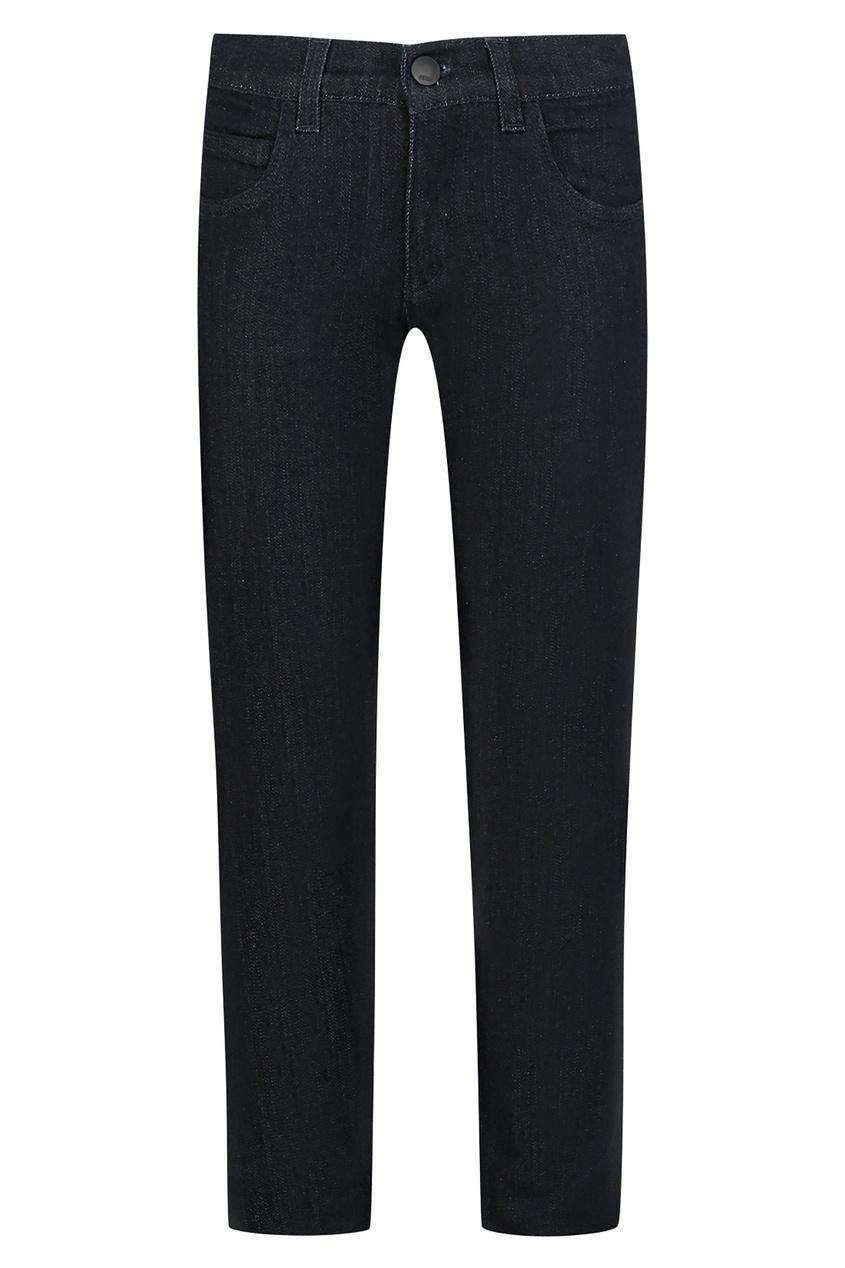 Купить Прямые джинсы с вышивкой от Fendi Kids синего цвета