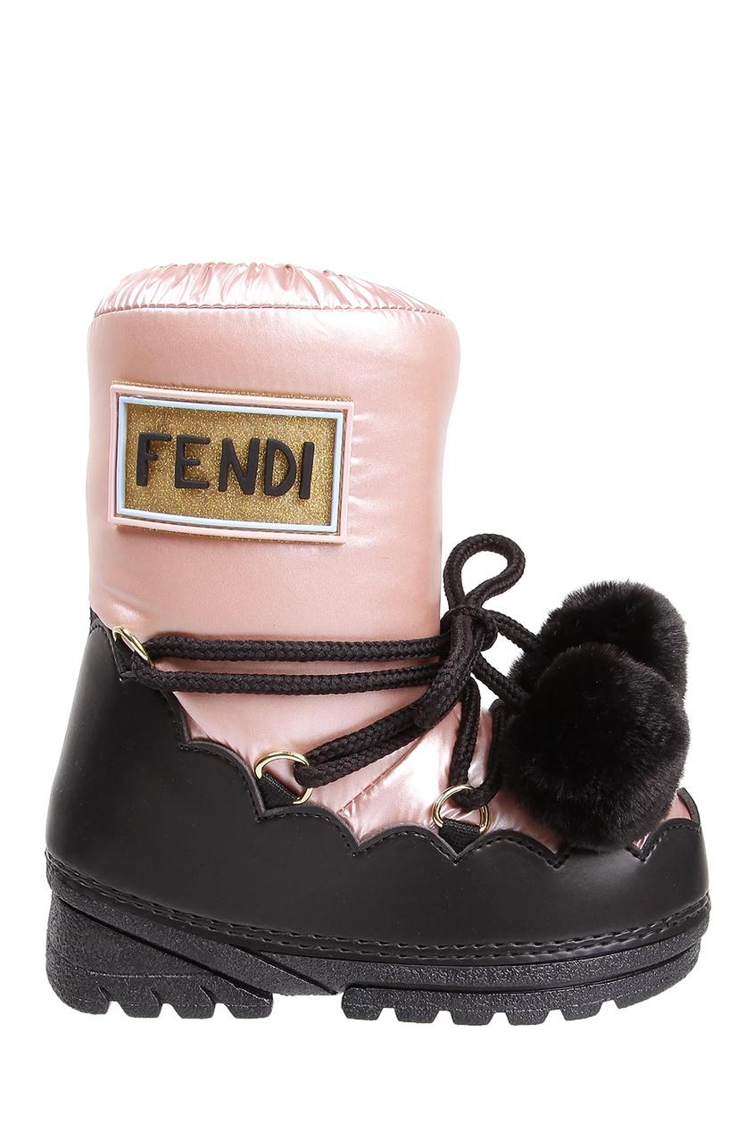 Контрастные детские сапоги от Fendi Kids
